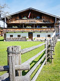 Old farmhouse. Typical old farmhouse at the european alps Stock Photos