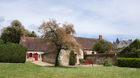 Old farmhouse in Chenonceax in Loire Valley stock image