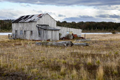 Old farmhouse at fagnano lake near Tolhuin. Tierra del fuego. Argentina Royalty Free Stock Photography