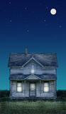 Old Farmhouse Full Moon and St Stock Photos