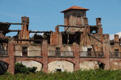 Old farmhouse in Lombardy. Italy. Ruins of a farm estate property Stock Image