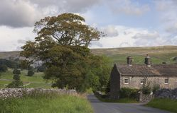 Old Farmhouse near Malham Cove Stock Photo