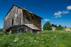 The old farmhouse. North Russian village. Kenozerye. Arkhangelsk region, Russia Stock Image