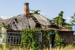 Old farmhouse shattered which, vintage. Stock Images