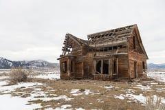 Old farmhouse, Sierra Valley, California Stock Image