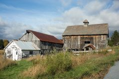 Old farmhouse in Vermont Royalty Free Stock Image