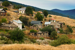 Old farmhouses. Churen Village - a village where almost nobody lives now Royalty Free Stock Image