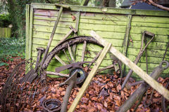 Old farming tools left outside Royalty Free Stock Photos