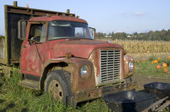 Old farming truck at farm Stock Image