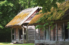 Old farmland buildings used for keeping farm godies, Lithuania Royalty Free Stock Images