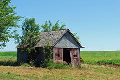 Old farmshed in Nebraska Royalty Free Stock Photography