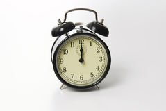 Old fashion alarm clock ringing Royalty Free Stock Photography