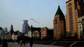 Old-fashion architecture in Shanghai Bund, China Royalty Free Stock Images