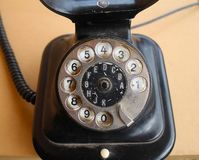 Old black phone royalty free stock image