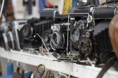 Old-fashion cameras royalty free stock images