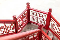 Old fashion Chinese stlye staircase Stock Photography