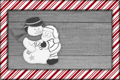 Old fashion Christmas frame Stock Photo