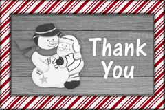 Old fashion Christmas message thank you