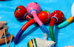 Old fashion colorful mexican maracas Stock Image