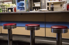 Old Fashion Diner Seats Royalty Free Stock Image