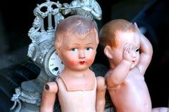 Old fashion dolls stock photography