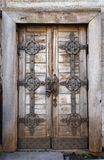 Old fashion door with lock stock photography