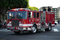 Old fashion fire-truck 73th Annual Nisei Week Grand Parade Stock Photo