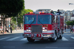 Old fashion fire-truck 73th Annual Nisei Week Grand Parade Royalty Free Stock Photography