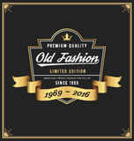Old fashion frame & label design Royalty Free Stock Images