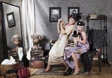 Old-fashion girls Royalty Free Stock Image