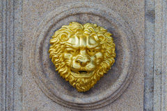 Old fashion golden lion Royalty Free Stock Photos