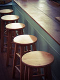 Old fashion  Lunch Counter and stools Stock Image