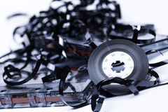Old fashion magnetic audio tape Royalty Free Stock Images