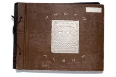 Old Fashion photo album stock images