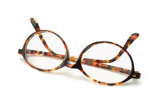 Old fashion plastic frame eyeglasses Royalty Free Stock Photo