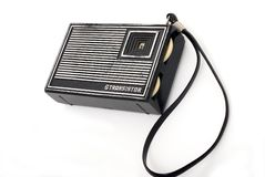 Old fashion pocket radio Royalty Free Stock Images