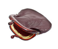 Old fashion purse. On white Royalty Free Stock Photography