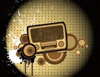Old-fashion radio Stock Image