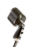 Old fashion retro microphone. For singing Royalty Free Stock Photos