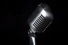 Old fashion retro microphone. For singing Royalty Free Stock Photo