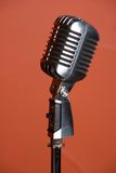 Old fashion retro microphone. For singing royalty free stock image