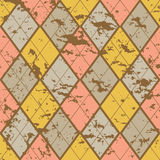 Old fashion rhombuses. Old fashion background with cracked rhombuses Stock Images