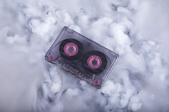 Old fashion scratched cassette tape Conceptual photography Sound cloud Stock Images
