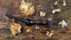 Old fashion sheep shearing clippers Stock Photography