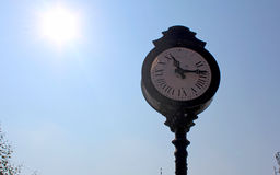 Old fashion street clock Royalty Free Stock Photo
