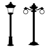 Old Fashion Street Lamp. Set of old fashion antique street lamps on white background Vector Illustration