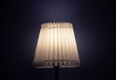 Old fashion table lamp at night. Royalty Free Stock Photos