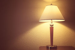 Old fashion table lamp. Old fashion retro table lamp royalty free stock photography