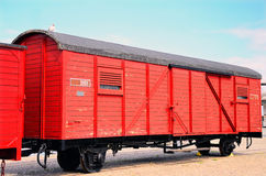 Old fashion train with cargo Royalty Free Stock Images