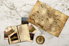 Old Fashion Traveling Diary Stock Photos